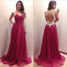 wine red prom dresses sweetheart neckline prom gowns chiffon