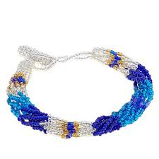 bead bracelet images Himalayan gems multistrand potay bead bracelet and necklace set jpg