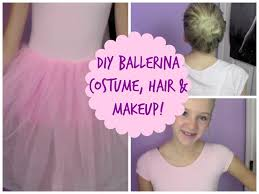 ballerina halloween costume diy ballerina costume hair u0026 makeup youtube