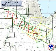 Chicago On Map June 22 2015 Numerous Tornadoes Strike Northern Illinois
