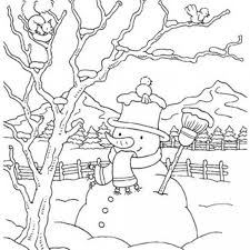winter coloring pages snowman kids winter coloring pages
