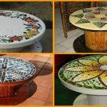 Diy Mosaic Table Diy Mosaic Table White House Photos Easy And Inexpensive Diy