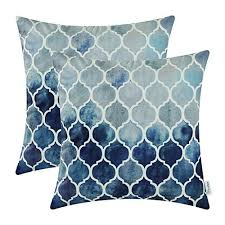 blue and gray sofa pillows blue and gray throw pillows amazon com