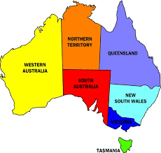 states australia map map of australia with states and territories major