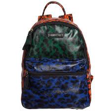Blue Leopard Print Silvian Heach Girls Orange U0026 Blue Leopard Print Backpack 30cm