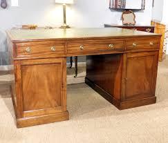 Partner Desk For Sale Antique Partners Desk Large Antique Pedestal Desk Georgian