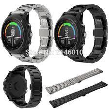 titanium band titanium wrist band for garmin fenix 3 hr black