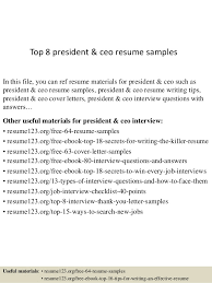 Examples Of Ceo Resumes by Ceo Resume 8 Reasons This Is An Ideal Rsum For Someone With A Lot