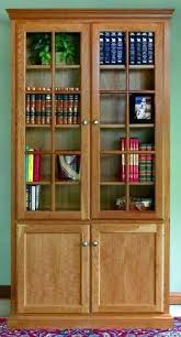 Oak Bookcases With Glass Doors Bookshelves With Doors For Sale Medium Size Of Glass Bookshelves