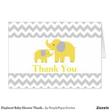 purple and grey baby shower invitations elephant baby shower thank you card yellow gray baby shower