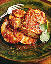 jalapeno baked fish with roasted tomatoes and potatoes the