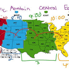 us map time zones with states map of time zones in united states map of usa