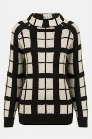 plaid sweater topshop plaid sweater winter chica