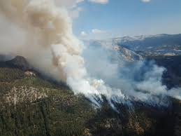 California Wildfires Hume Lake by Lightning Caused Fires Continue To Burn In Mountains Valley