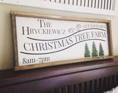 framed tree farm sign rustic for signs
