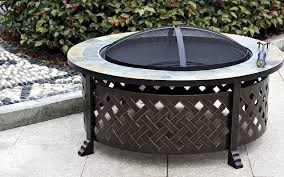 slate fire pit table hanouf houseware appliances airconditioning