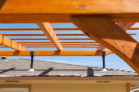 Pergola Roof Brackets by Roof Riser U0026 Related Stunning Patio Cover Replaced Using Skylift
