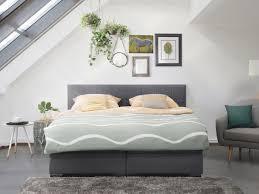 king size bed pocket sprung mattress box spring 160x200 cm