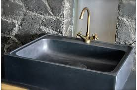 Mm Pure Black Granite Stone Kitchen Sink LAGOS SHADOW - Black granite kitchen sinks
