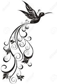 vector tattoo hummingbird royalty free cliparts vectors and