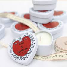 wedding favor candles personalised scented candle wedding favours by hearth heritage