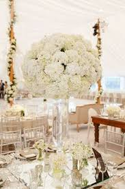 White Roses Centerpieces by Tall White Rose And Hydrangea Centerpiece Stephanie Grace