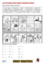 intermediate esl worksheets christmas songs