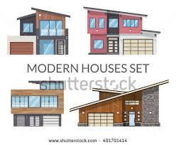 pics of modern houses modern houses set real estate signs stock photo photo vector