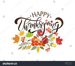 happy thanksgiving in espanol hand drawn thanksgiving typography poster celebration stock vector
