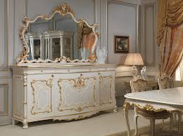 Mirror Dining Table by Dining Room In Louis Xv Style Sideboard With Big Carved Mirror