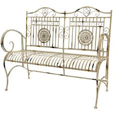 amazon com oriental furniture rustic metal garden bench rust