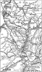 Alsace Lorraine Map The New York Times Current History Of The European War Vol 1 Issue 4