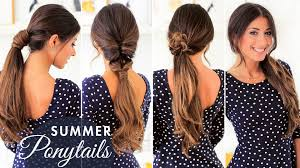 cute summer ponytails luxy hair youtube