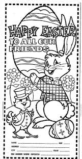 mostly paper dolls happy easter coloring contest 1964