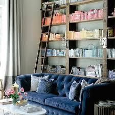 blue velvet chesterfield sofa design ideas