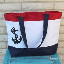 nautical tote doodlecraft nautical tote bag with anchor diy