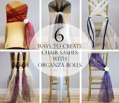 diy chair sashes 6 ways to create chair sashes with organza rolls chair sashes