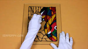 painting on glass windows how to make a abstract glass painting youtube