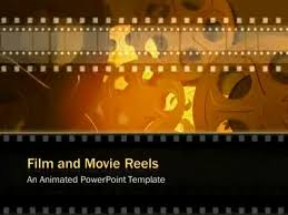 film and movie reels a powerpoint template from presentermedia com