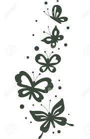 stencil illustration featuring butterflies fluttering about