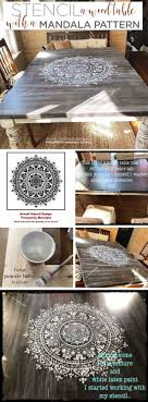 kitchen stencils designs learn how to stencil a wood kitchen table using the prosperity