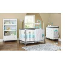 delta tribeca classic convertible 4 in 1 crib in white gray finish