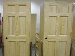 Solid Oak 6 Panel Interior Doors Of 8 Unfinished Solid Wood Pre Hung Clear Pine Interior Doors