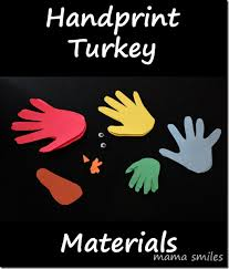 thanksgiving craft for family handprint turkey