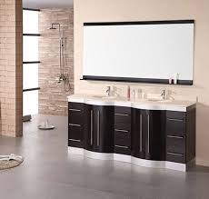 Espresso Double Vanity Design Element Jade Double 72 Inch Modern Bathroom Vanity Set