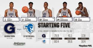 106 7 the fan live georgetown hoyas on twitter your georgetownhoops starters for