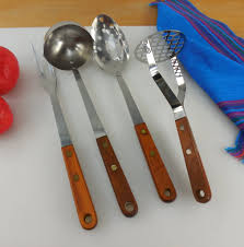 Kitchen Forks And Knives Sold Robinson Stainless Usa Vintage Kitchen Utensils Wood