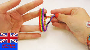 friendship bracelet rainbow images Rainbow wristband friendship bracelet how to make a colourful jpg