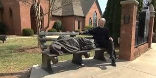 homeless jesus u0027 statue gets new north carolina home at st alban u0027s