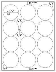 1 Inch Circle Template by 240 White 2 5 Diameter Circular Labels Laser And Inkjet